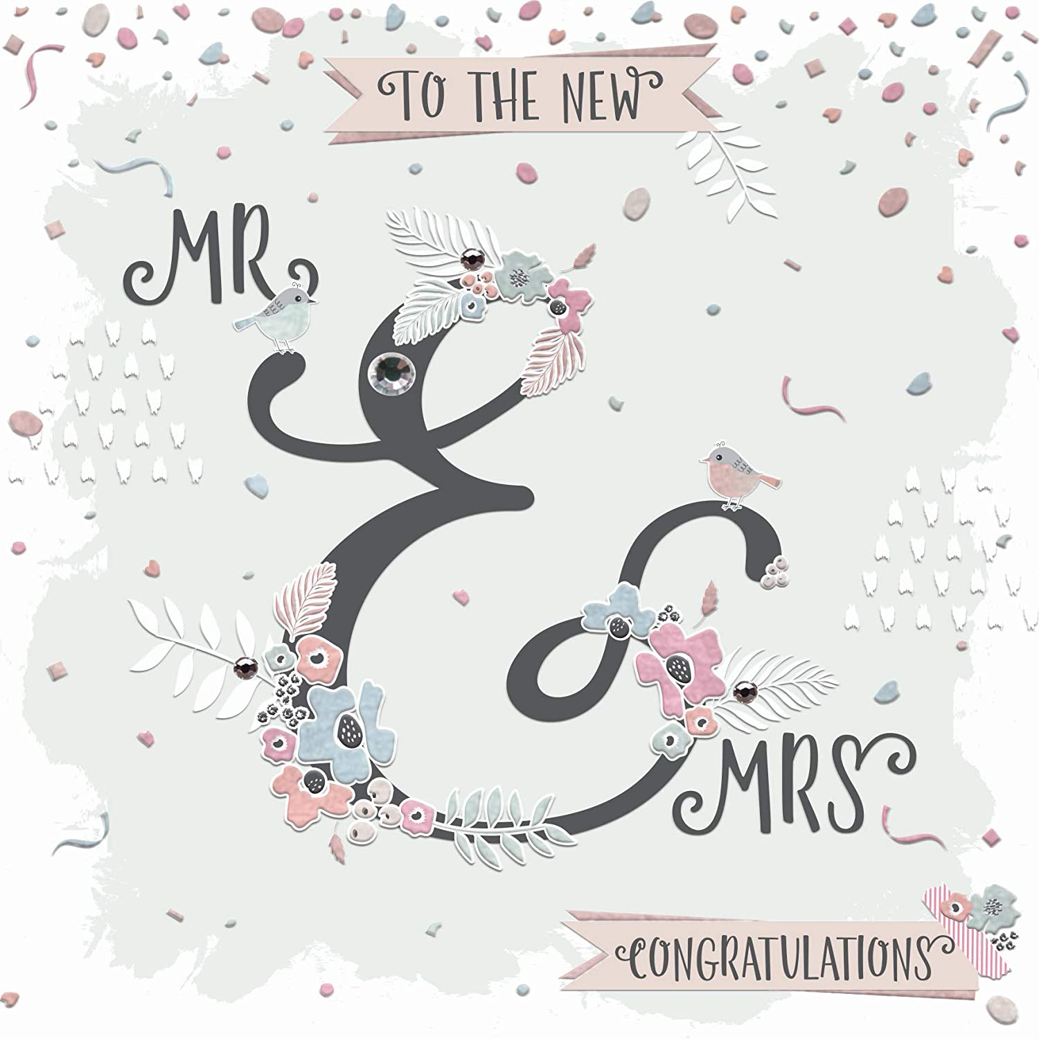 Surname on Pretty Rustic Design Wedding cards Handmade Personalised Wedding Card Congratulations on your Wedding Day Card Mr /& Mrs