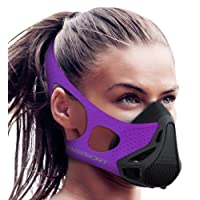 Aduro Deporte Entrenamiento Entrenamiento Máscara-Regulador de flujo de aire para Running Ciclismo Entrenamiento y Fitness, alcanzar High Altitud Efectos de elevación con 4Nivel [Pico Resistencia]