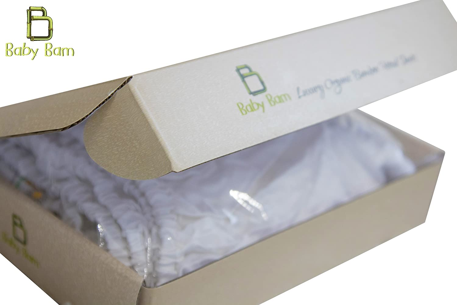 Luxury Organic Bamboo Fitted Sheets by Baby Bam | Premium & Ultra Soft Baby Crib Bedding with Exclusive Bamboo Cotton - Handcrafted | Crib & Moses Basket Fitted Sheet 32cm X 72cm