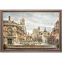 Cuadro enmarcado - Cuadro de la Fuente de la Diosa Cibeles en Madrid - Fotografía artística y moderna de alta calidad…