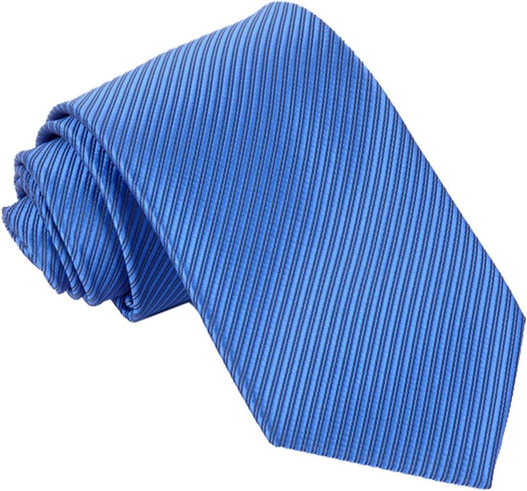 Panegy Corbata de Rayas Seda Te/ñida para Hombre Color Amarillo