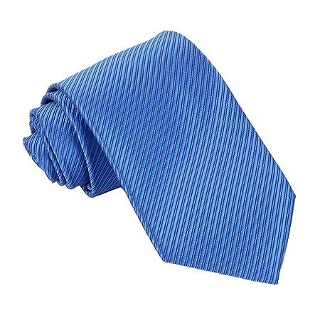 Panegy Corbata de Rayas Seda Teñida para Hombre Color Azul: Amazon ...