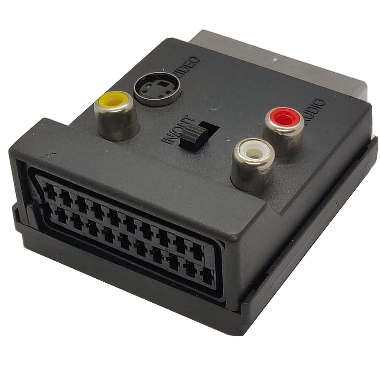 Ti-Zeta S-Video Switch Adaptador de v/ídeo SCART RGB a RCA 3 x RCA