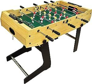 Futbolín de Mesa Plegable Tamaño de Competencia Profesional MDF Construcción Juguete para el Uso Familiar Sala de Juegos Arcade 122 x 61 x 81: Amazon.es: Deportes y aire libre