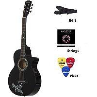 Medellin MED-BLK-C Linden Wood Acoustic Guitar