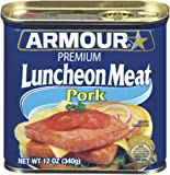 Armour Premium Pork Luncheon Meat, 12 Ounce (Pack of 12)