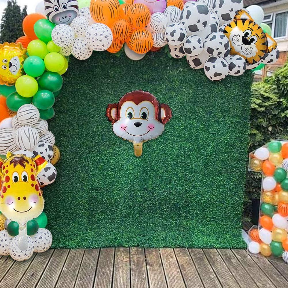 MMTX Selva Fiesta de cumplea/ños decoracion Ni/ño-Feliz cumplea/ños feliz con Globos de latex y Safari Bosque Animal globos para Ni/ño Cumplea/ños Baby Shower Decoraci/ón