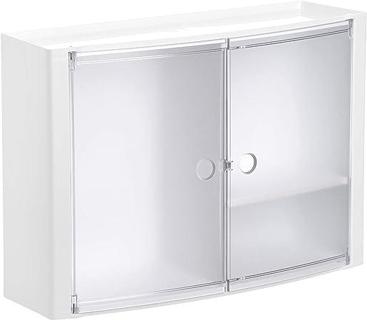Oferta amazon: Tatay - Armario de Baño Horizontal de Pared Hecho de Plástico Polipropileno. Fácil Fijación con Tornillos o Sistema Adhesivo Glue & Fix. Medidas (L x An x Al) 46 x 15,5 x 32 cm. Color Glacé