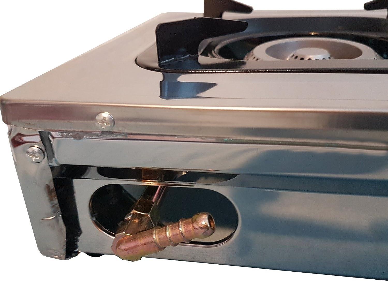 FRX Gaskocher Campingkocher 2-flammig Transportabel Camping-Gasgrill Mehrflammkocher Gasplatte Gaskochfeld Zweiflammkocher Kochfeld Hockerkocher (2flammig)