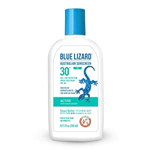 Blue Lizard Active Mineral-Based Sunscreen – No Oxybenzone, No Octinoxate – SPF 30+ UVA/UVB Protection, 8.75 oz