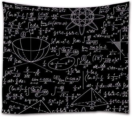 A.Monamour Tapices de Pared Ecuaciones De Álgebra Matemática Fórmulas Hechas A Mano con Tiza En El Efecto De Pizarra para Los Amantes De Las Matemáticas Boho Hippie, Tapiz, Mantel, 180x230cm: Amazon.es: Hogar