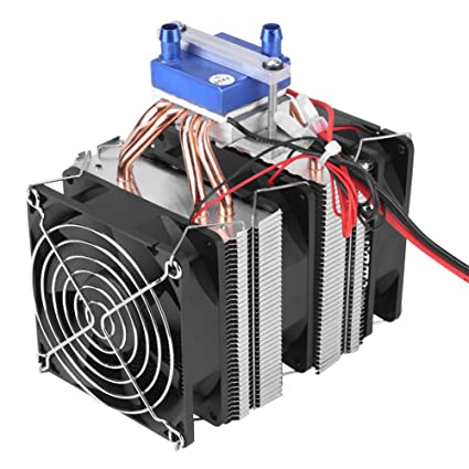 12V Energy-Saving Thermoelectric Peltier Cooler Semiconductor Refrigeration  Water Chiller Air Cooling Device for Fish Tank(120W (for 30L Fish Tank))