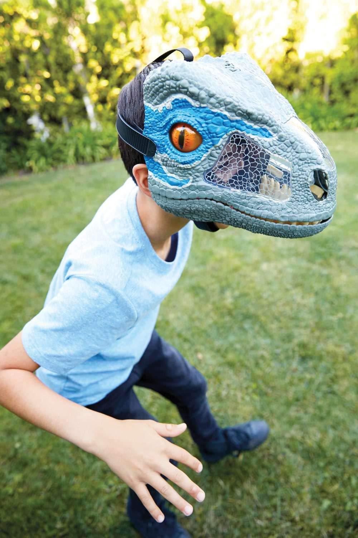 Jurassic World Chomp 'n Roar Mask Velociraptor ''blue'' by Jurassic World Toys (Image #2)