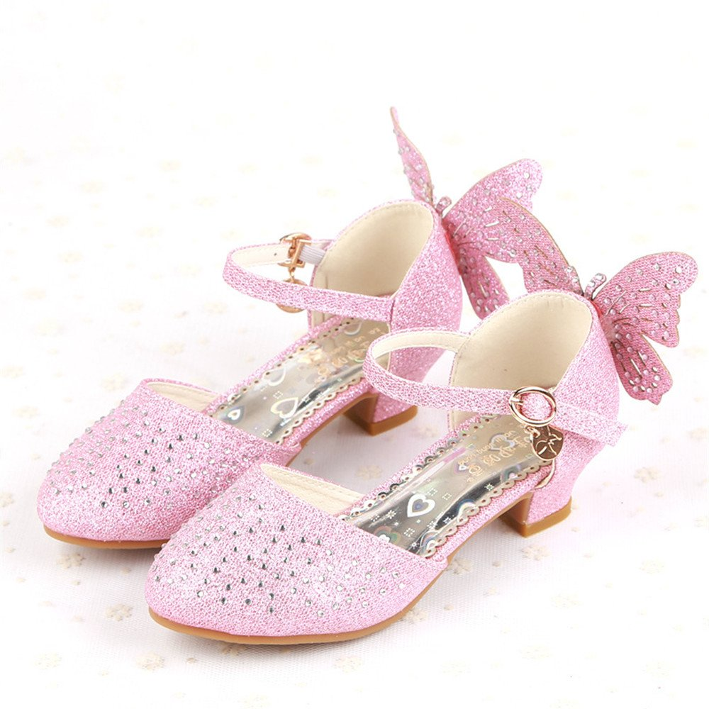 PRETTYHOMEL Little Girls Ballet Ballerina Flats Princess Shoes Flower Girl Dress Shoes Toddler//Little Kid//Big Kid