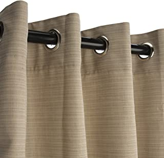 product image for Hatteras Hammocks Sunbrella Outdoor Curtain with Nickel Plated Grommets in Dupione Sand 50 in x 84 in