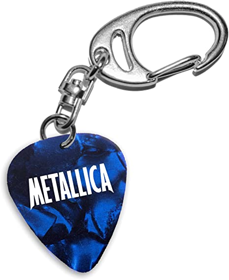 Metallica Band Logo Blue Keyring Llavero de púa de guitarra (H ...