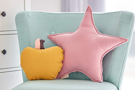 KraftKids - Cojín con forma de estrella, color rosa: Amazon ...