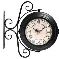 Reloj de estación Doble Cara montado en la