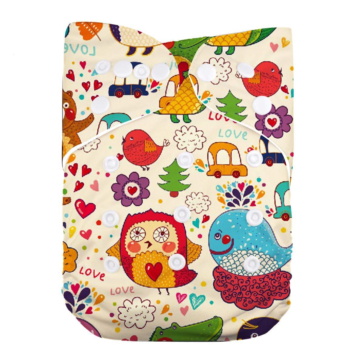 Lilbit reutilizable impresión Digital bebé recién nacido pañal de tela YD01: Amazon.es: Bebé
