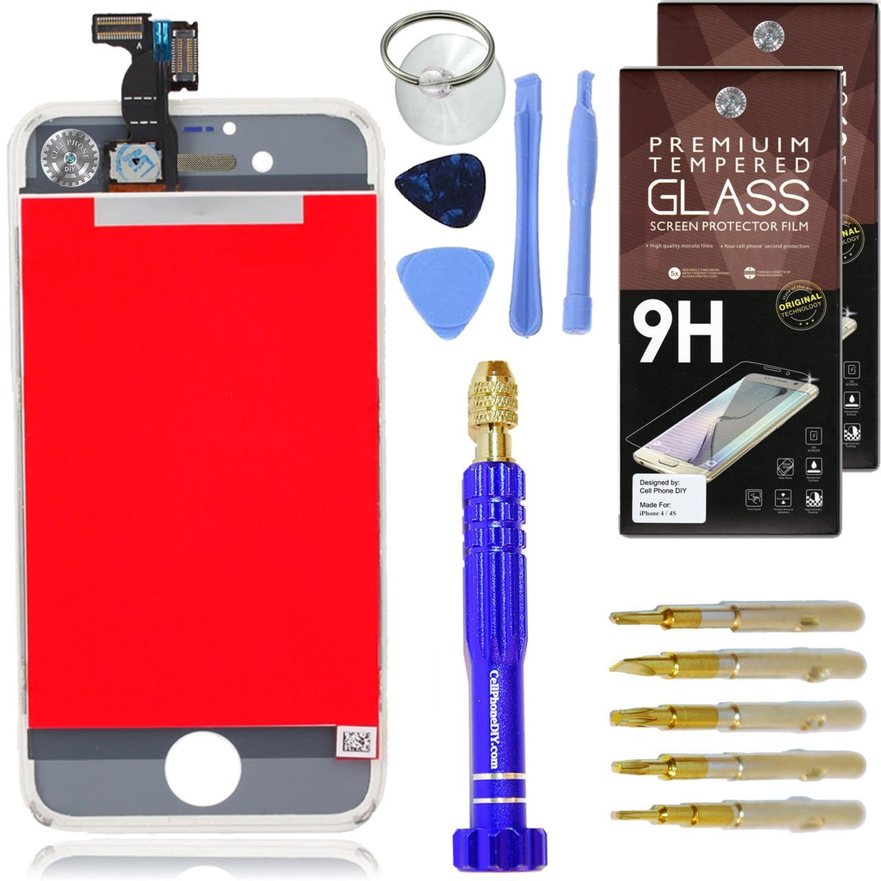 4.7 Cell Phone DIY Black LCD Screen Replacement Kit Compatible with iPhone 6S