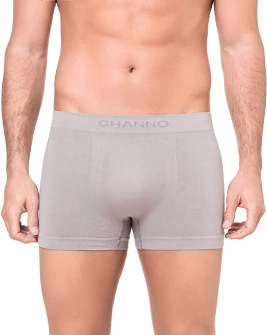 Channo Pack de 4 - Calzoncillos Boxer algodón sin Costura Color Uniforme: Amazon.es: Ropa y accesorios