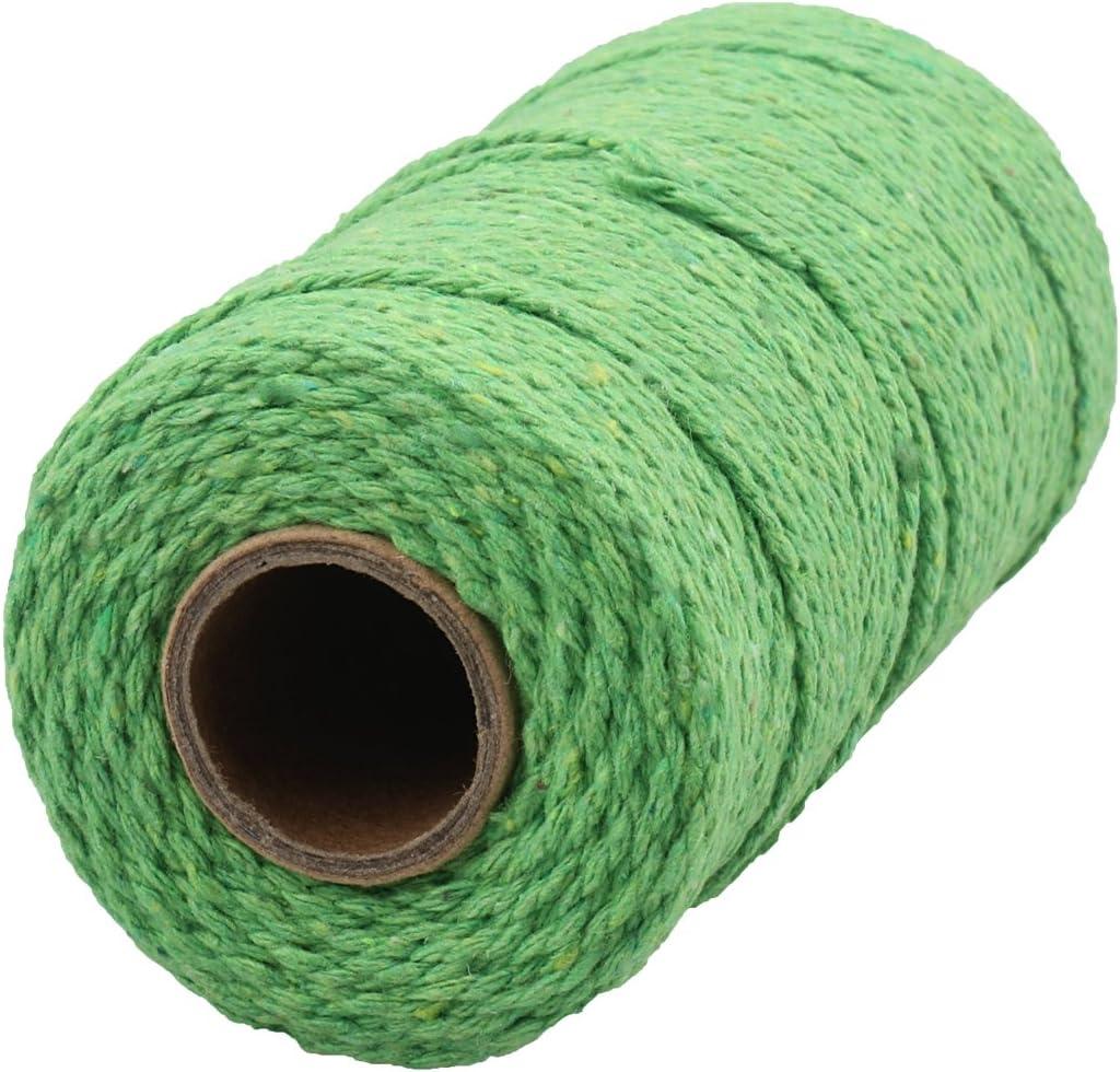 Marron et Gris McFanBe 656 Pieds Bobine de Ficelle de Coton 10 Plis Ficelle Dartisanat pour Les Bricolages et Emballage Cadeau