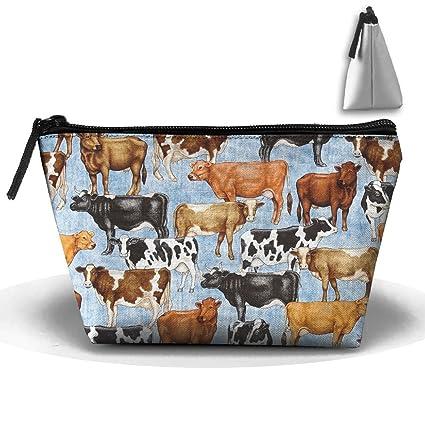 Unisex Bountiful Farm Animals Trapezoid Portable Travel Bag Makeup  Multifunction Cosetic Bags Travel Organizer Bag Storage