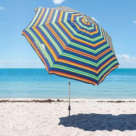 TECNOVOZ Sombrilla para la Playa Tommy Bahama 1327294 Rayas: Amazon.es: Jardín