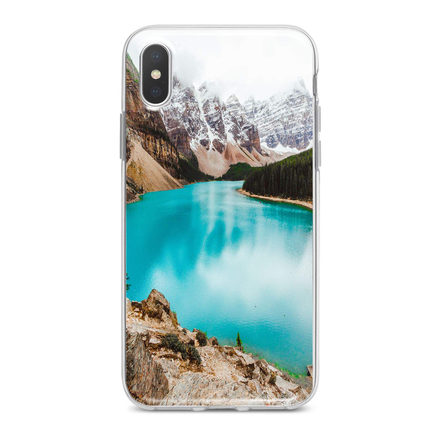 Lex Altern Tpu Iphone Apple Cases Xs X 8 Max Xr Plus 10 7 6s 6 Se 5s 5 Lake Blue Clear Phone Mountain Print Protective Nature Beautiful Pattern Cover