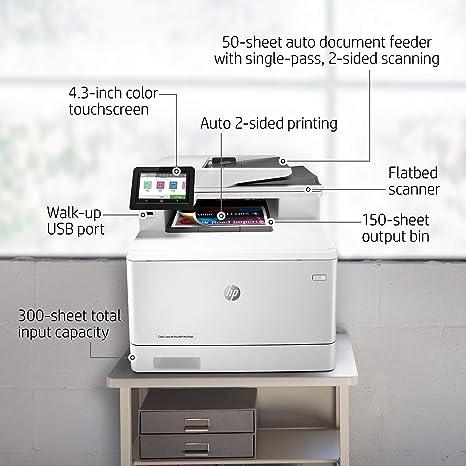 HP Color Laserjet Pro M479fdn - Impresora Láser Multifunción a Color (A4, hasta 27 ppm, de 750 a 4000 Páginas al Mes, 1 USB 2.0 , 1 USB Host, 1 Red ...