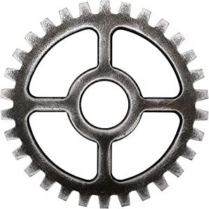 Sumnacon 9.4 Inch Industrial Steampunk Style Gear Wheel Wall Decoration, Vintage Gear Wheel Art Craft Wall Decor for Home/Bar/Office Hotel/Cafe/Resturant, Round