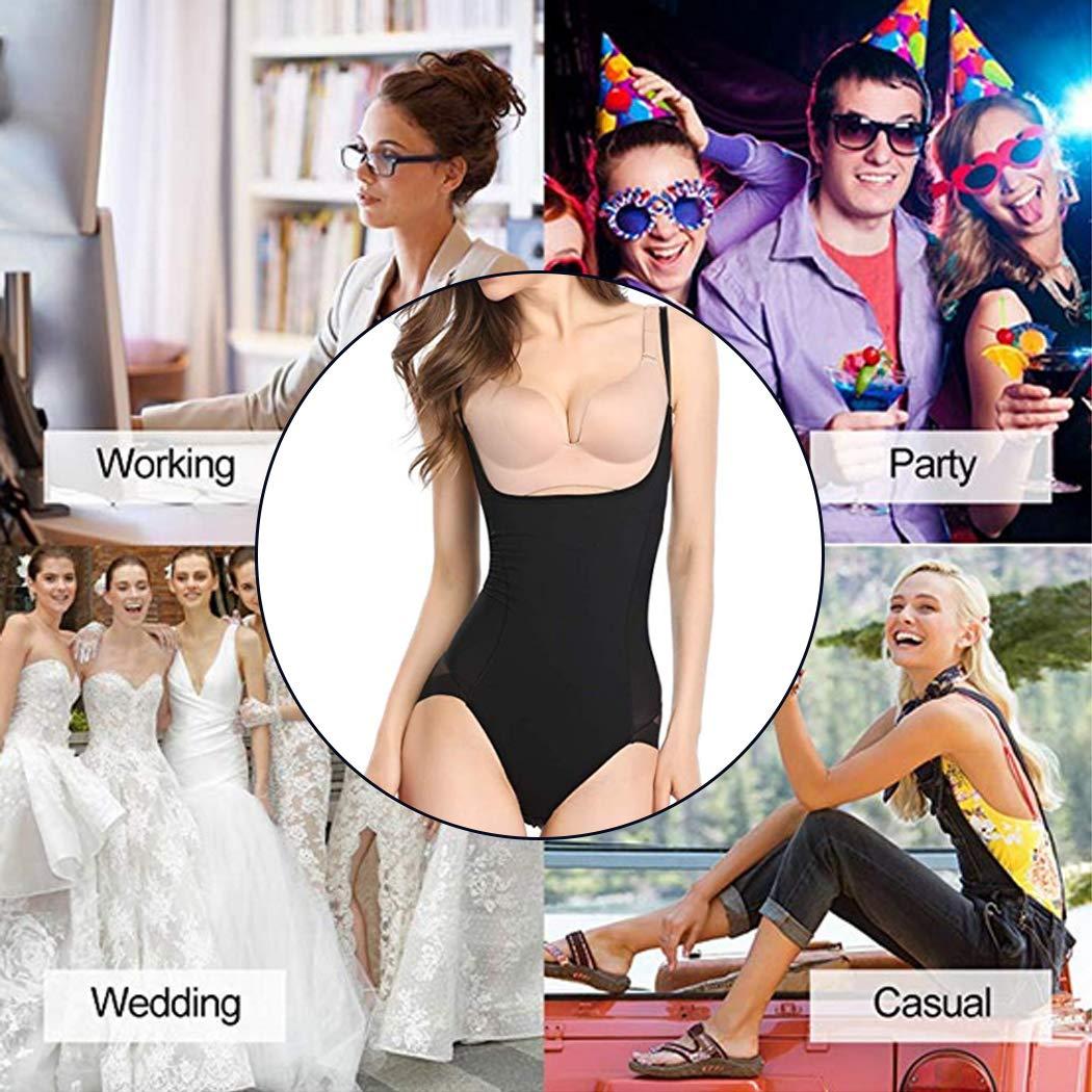 Shapewear Bodysuit for Women Seamless Firm Control Open Bust Body Shaper Bodysuit