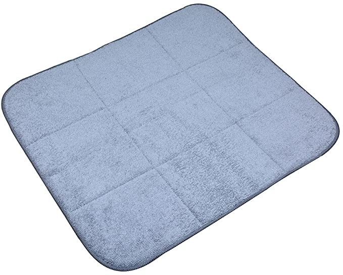 Sinland cocina microfiber plato secado mat palero tapete para cocina (Gris 40cmx46cm): Amazon.es: Hogar