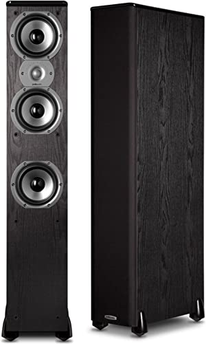 Polk Audio TSi400 4-Way Tower Speakers with Three 5-1 4 Drivers – Pair Black