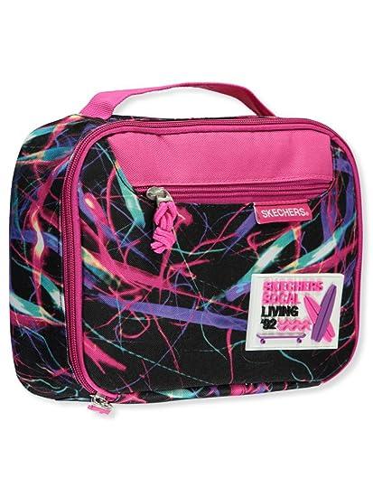 5683d12c3864 SKECHERS Girl s Vivid Night Lunch Bag (Little Kids Big Kids) Pink Black