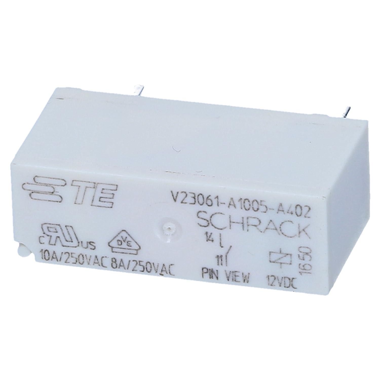 Schrack Relais V23061-A1005-A302 12V DC max 250V/8A Miniatur Starkstrom U Spule Przekaźniki Automatyka, napędy i silniki