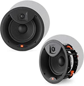 """JBL LAE8C 8"""" in-Ceiling Speakers 2-Way Frameless Design with White Magnetic Grille - (2 Pack)"""