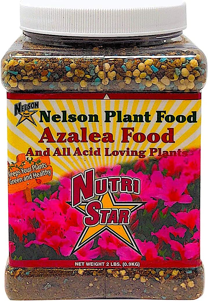 Nelson Acid Loving Plant Food Huge Blooms For Azalea Jasmines Roses Camellias Gardenias NutriStar 9-13-11 (2 LB)