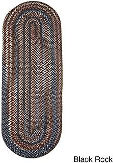 product image for Rhody Rug Augusta Space-Dye Wool Braided Rug Black Rock 2' x 6' Runner Wool 6' Runner Runner, Indoor Red Runner