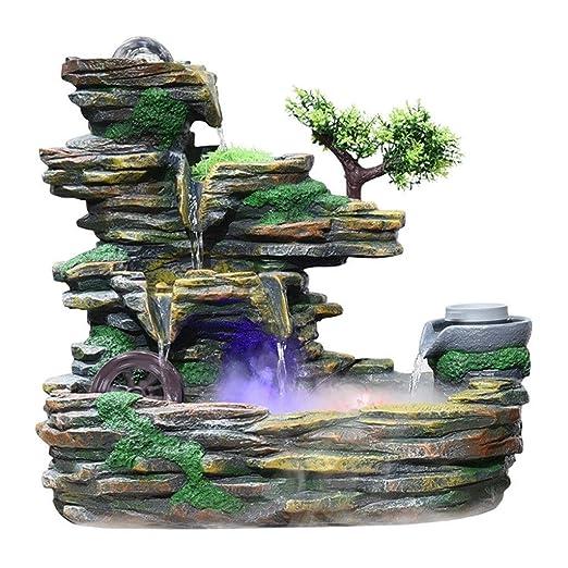 Zoe home Rockery Waterfall Fuente de Mesa Interior Lucky Feng Shui ...