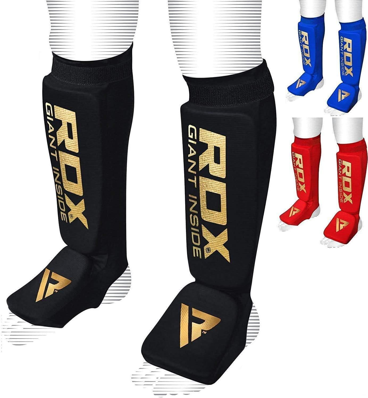 Karate Shin Pads Leg Protectors ITF Cut Short Boot Foot Guards RDX Taekwondo