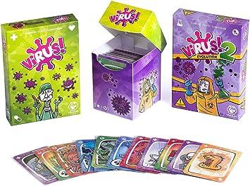 Outletdelocio. Pack Juego de Cartas Virus + Virus 2 + 120 Fundas. Edicion Española. +8 años: Amazon.es: Juguetes y juegos