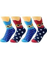 Deer Mum Child Owl Knee High Socks