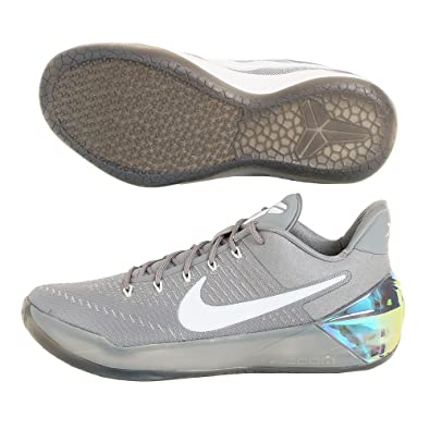 NIKE Mens Kobe A.D Cool Grey White-Black Nylon 1256bf17c633
