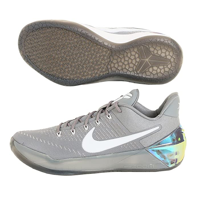 the latest edd8f 42796 Amazon.com   NIKE Mens Kobe A.D Cool Grey White-Black Nylon   Shoes