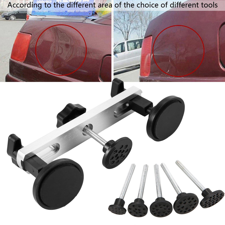 Leoneva Paintless Dent Repair Dent Puller Bridge, Aluminum Alloy PDR Tools Auto Car Kits for Car Body (6 PCS PDR TOOL)
