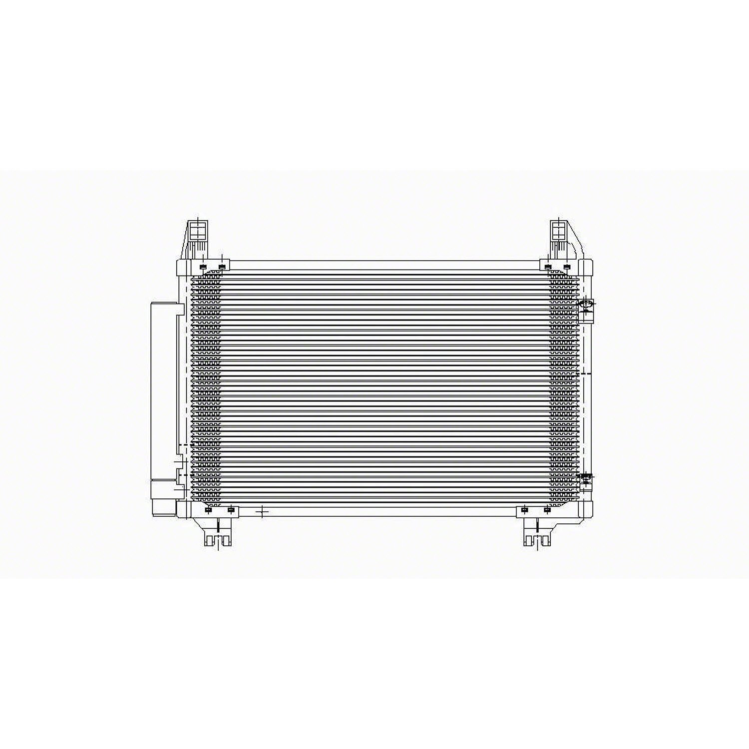 Amazon com: CPP Air Conditioning Condenser for 2007-2011