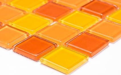 Rete mosaico mosaico piastrelle parete crystal mix giallo