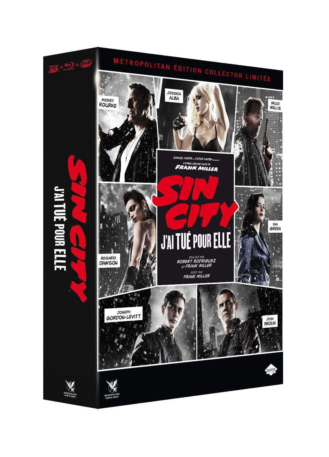 Sin City 2 : J'ai tué pour elle [Édition Collector Limitée Blu-ray 3D + Blu-ray + DVD]