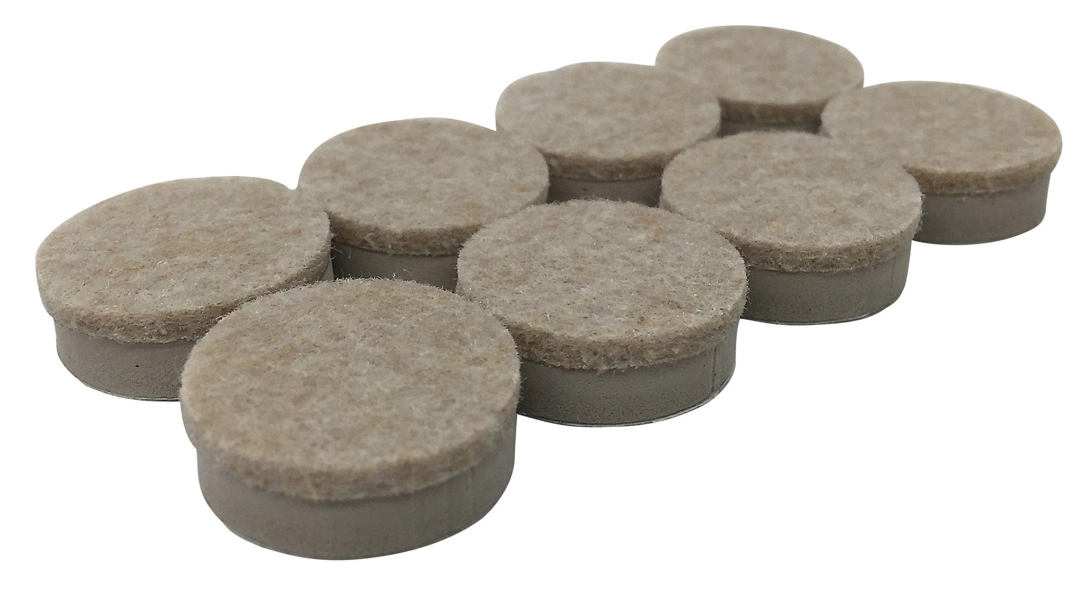 Shepherd Hardware 9915 1-Inch Heavy Duty Felt Gard Self-Adhesive Leveling Furniture Pads, 8-Pack
